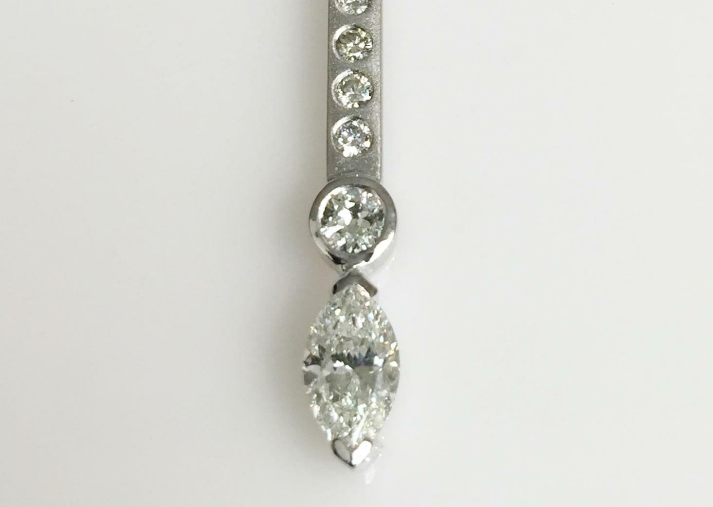 Marquise Cut Diamond Necklace Keezing Kreations Boston