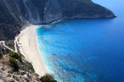 Myrtos beach on Kefalonia island