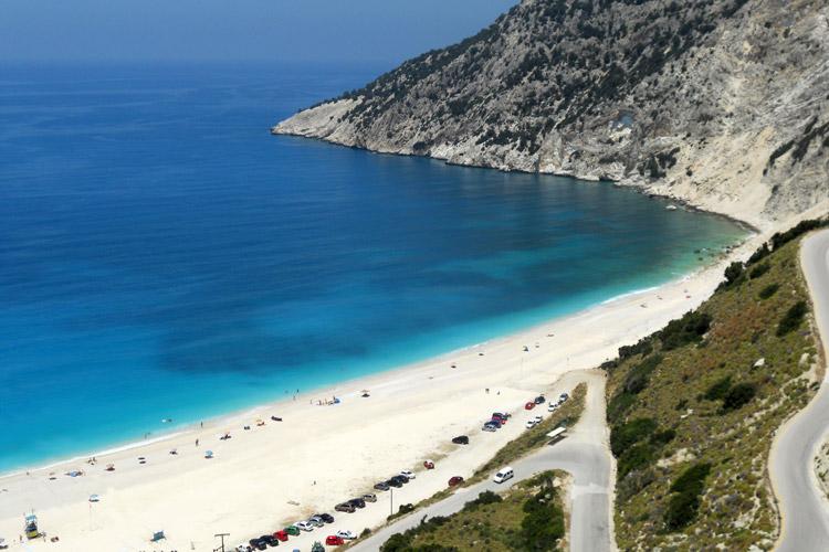 Spiaggia di Myrtos sullisola di Cefalonia