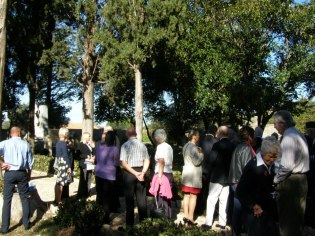 Memorial Service at the British Cemetery