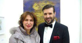 o Μιχαήλ Ρωμανός με την ηθοποιό Χριστίνα Θεοδωροπούλου