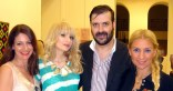 o Mιχαήλ Ρωμανός ανάμεσα στις Μαρία Διαμάντη, Ζωγραφίνα-Νίνα Ασπετάκη και Νίκη Κάμτσιου