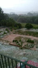 Έντονη βροχή και χαλάζι