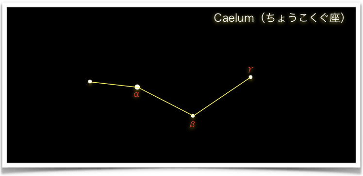Caelum(ちょうこくぐ座)