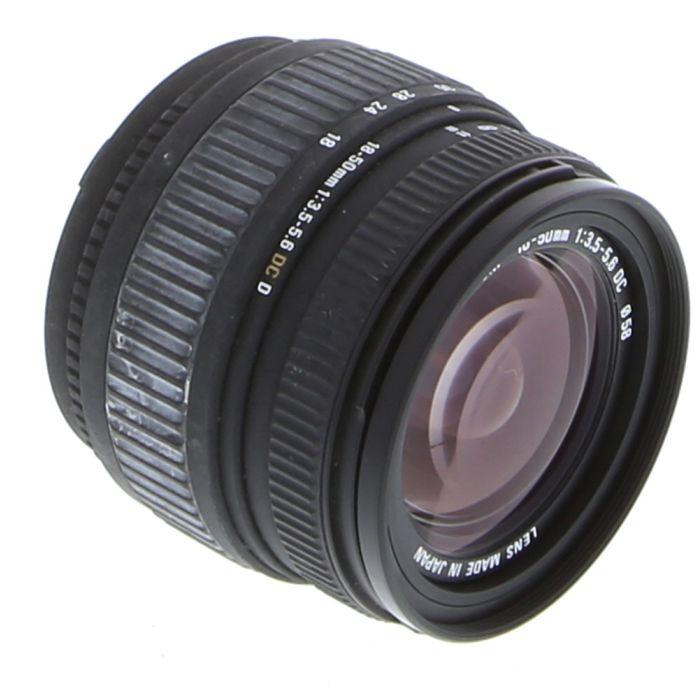 Sigma 18-50mm f/3.5-5.6 DC D AF Lens for Nikon APS-C DSLR {58} at KEH Camera