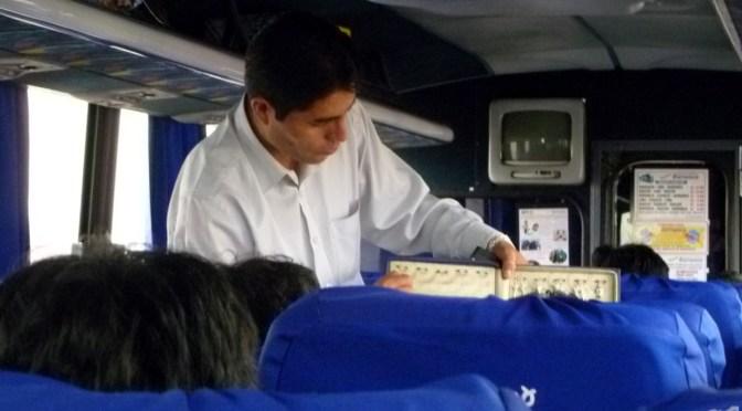 ペルーの長距離バスに車内安全ビデオ義務化へ