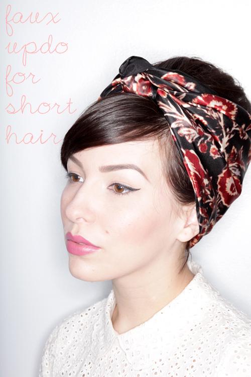 Faux Updo Tutorial For Short Hair Keiko Lynn