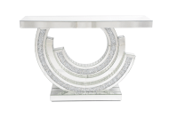 MOCKA DIAMOND CRUSHED CRESENT CONSOLE TABLE 585 by ...