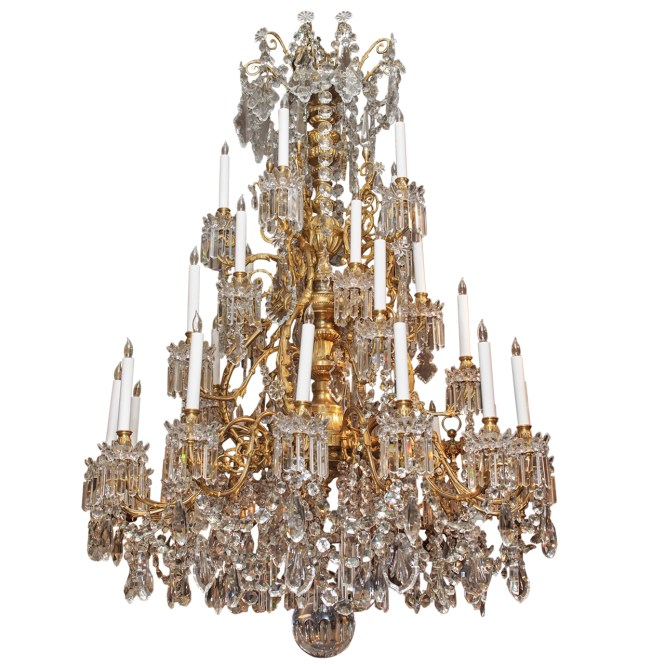 Antique French Baccarat Chandelier Circa 1850 1870