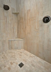 Wood-look Tile Master Shower / Bath Remodel  Keilty ...