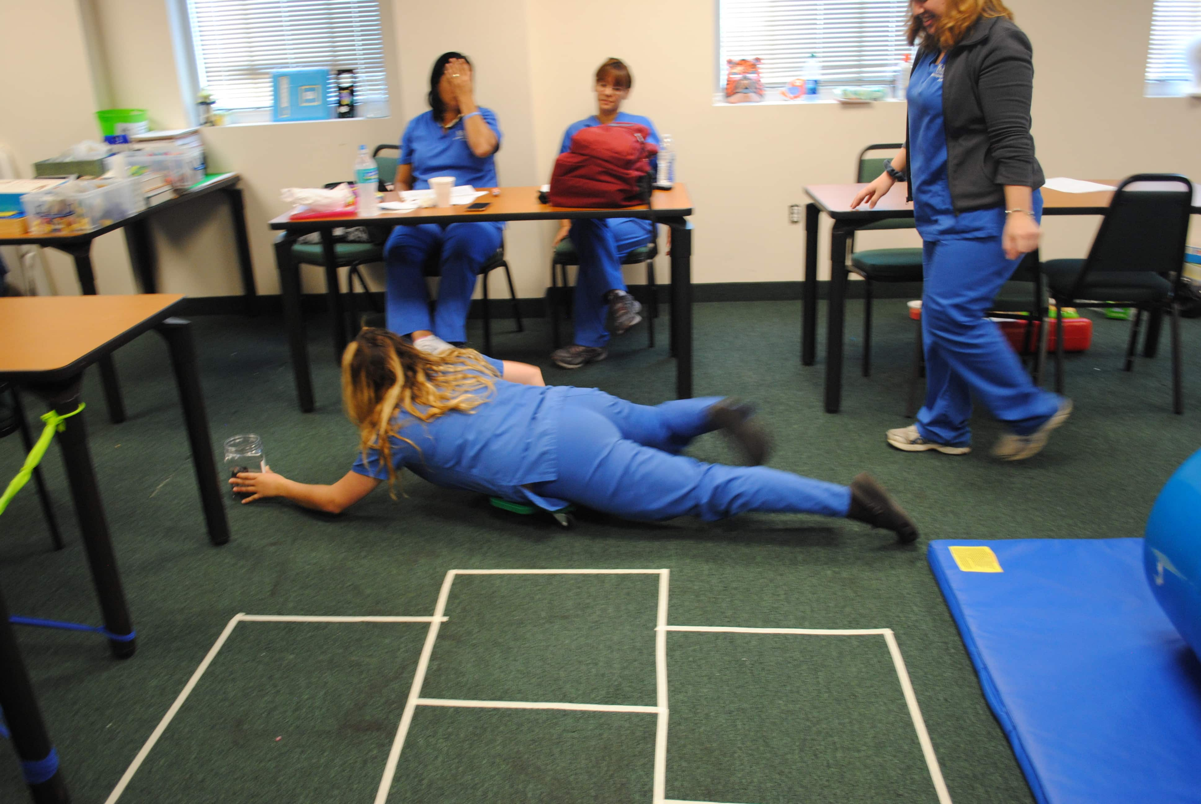 Occupational Therapy Assistant Students At The Miami Campus Learn How To Work With Children With