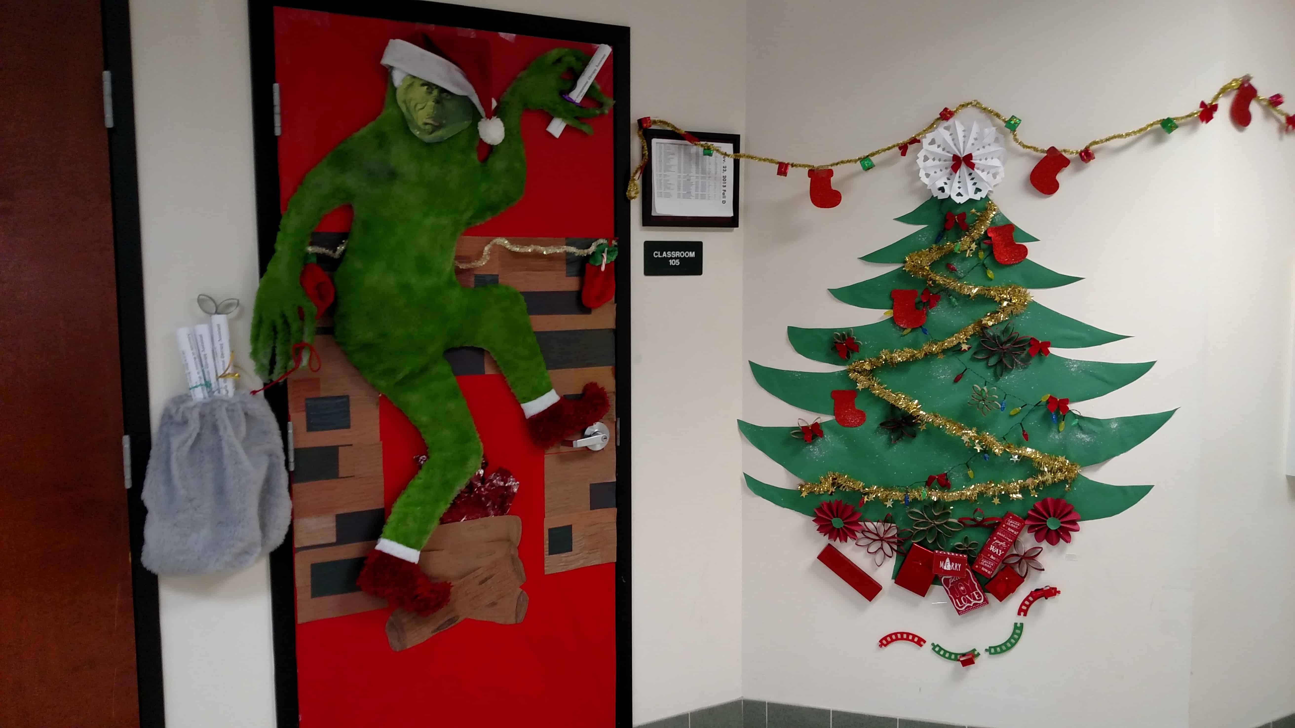 Pinterest Christmas Decorating Door Classroom Just BCAUSE