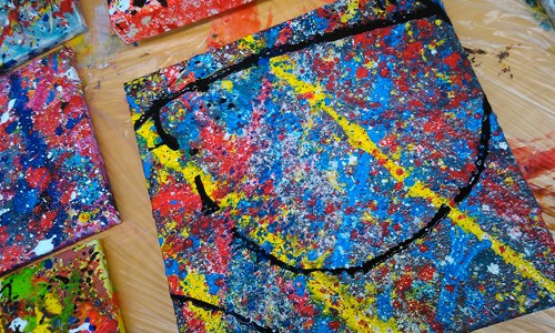 Schilderworkshop: Action Painting
