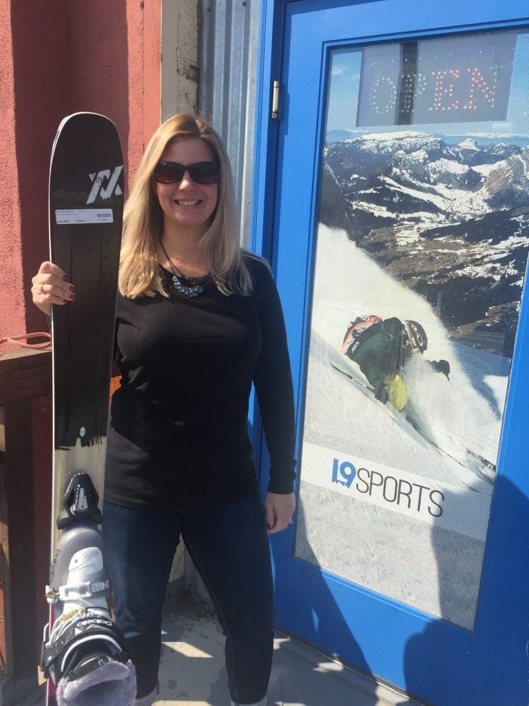 Lindsey's new skis from L9