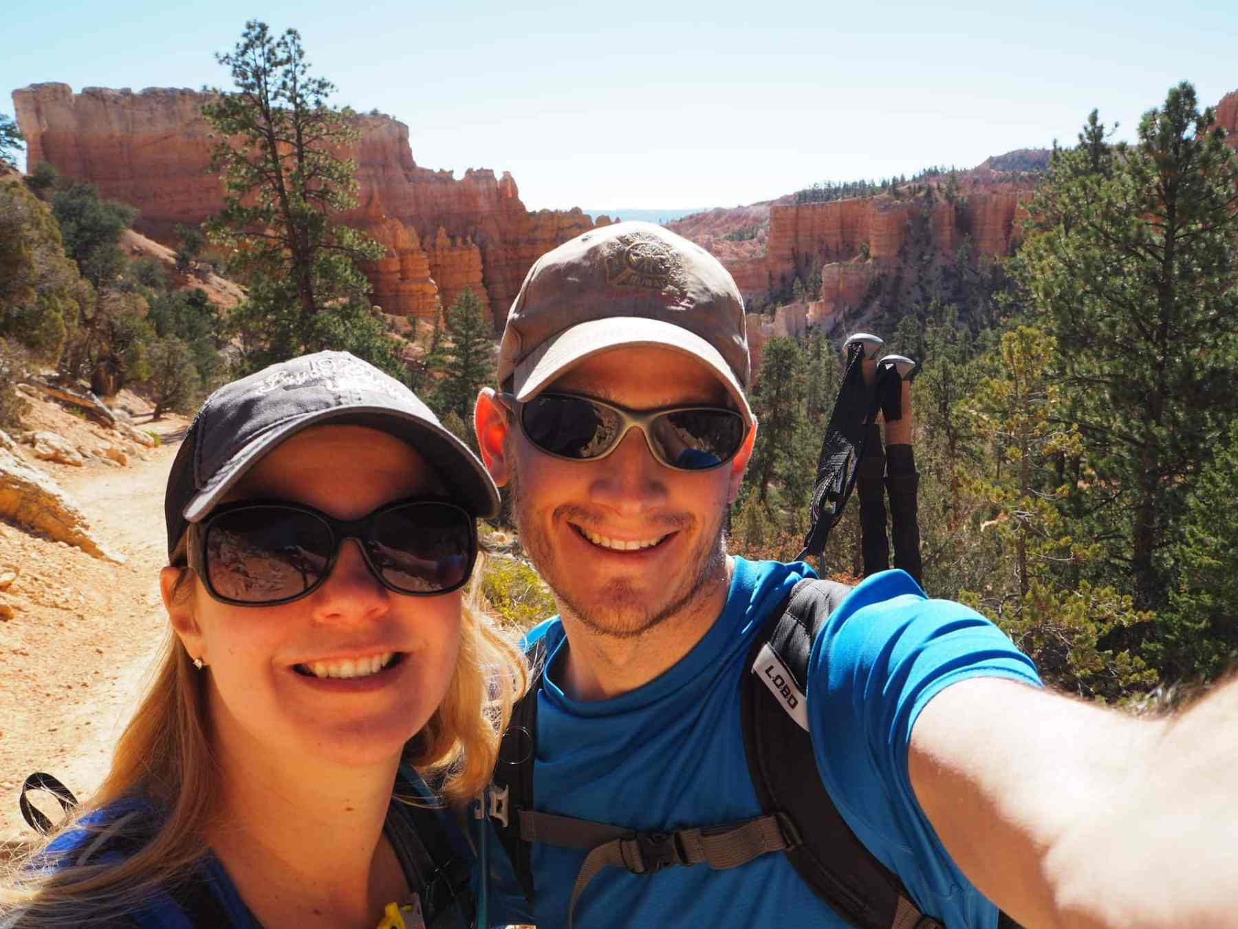 all smiles at Bryce Canyon National Park