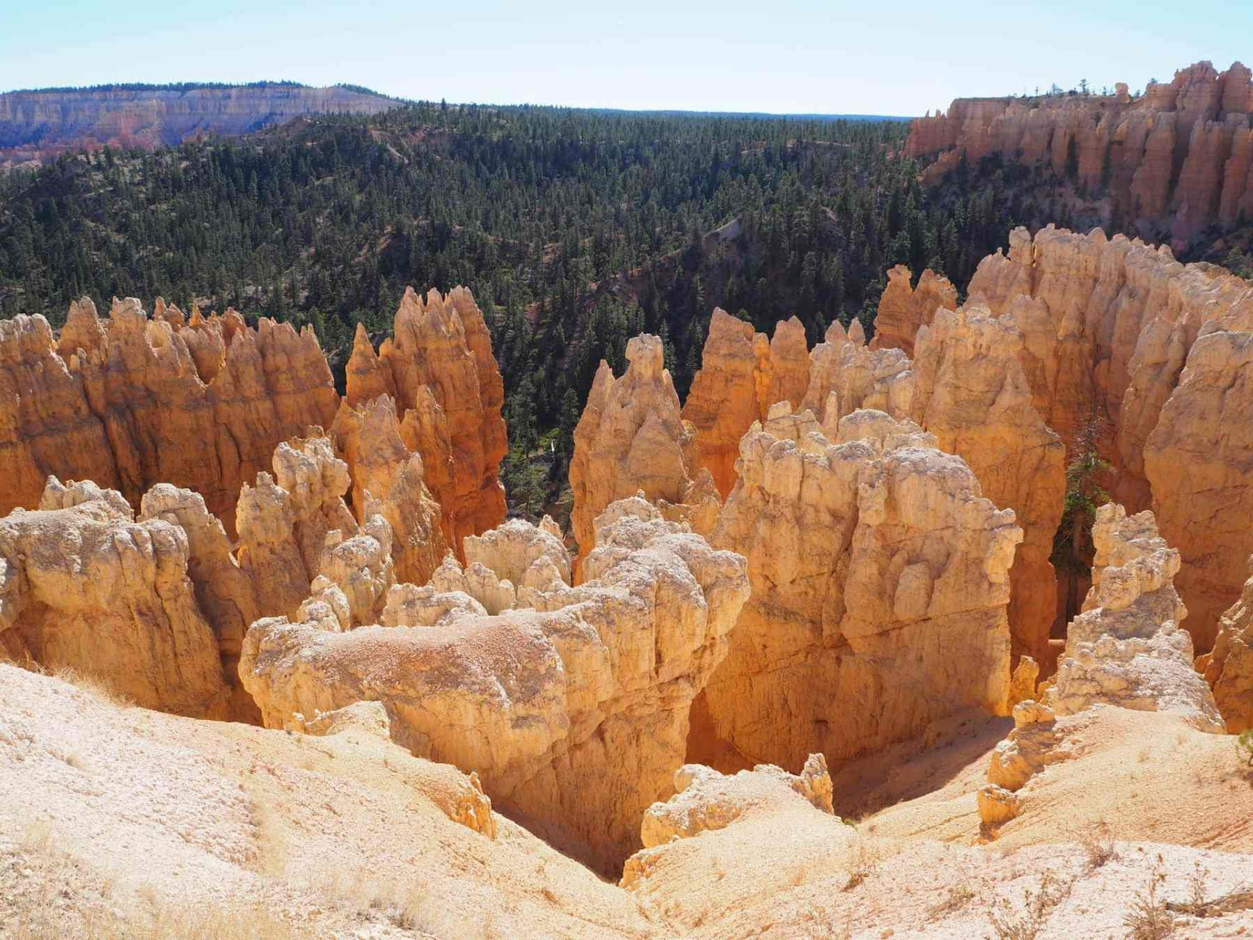 looking down into the hoodoos
