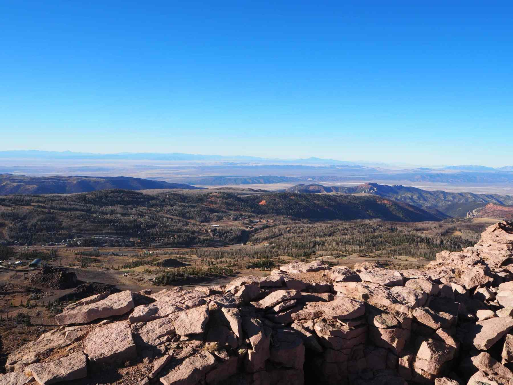 You can see parts of Utah, Nevada and Arizona from this peak!
