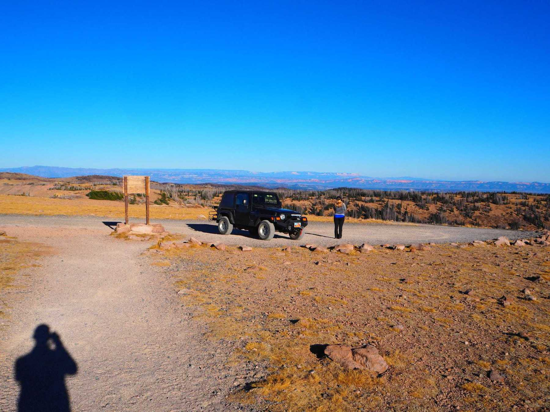 parking at Brian Head Peak