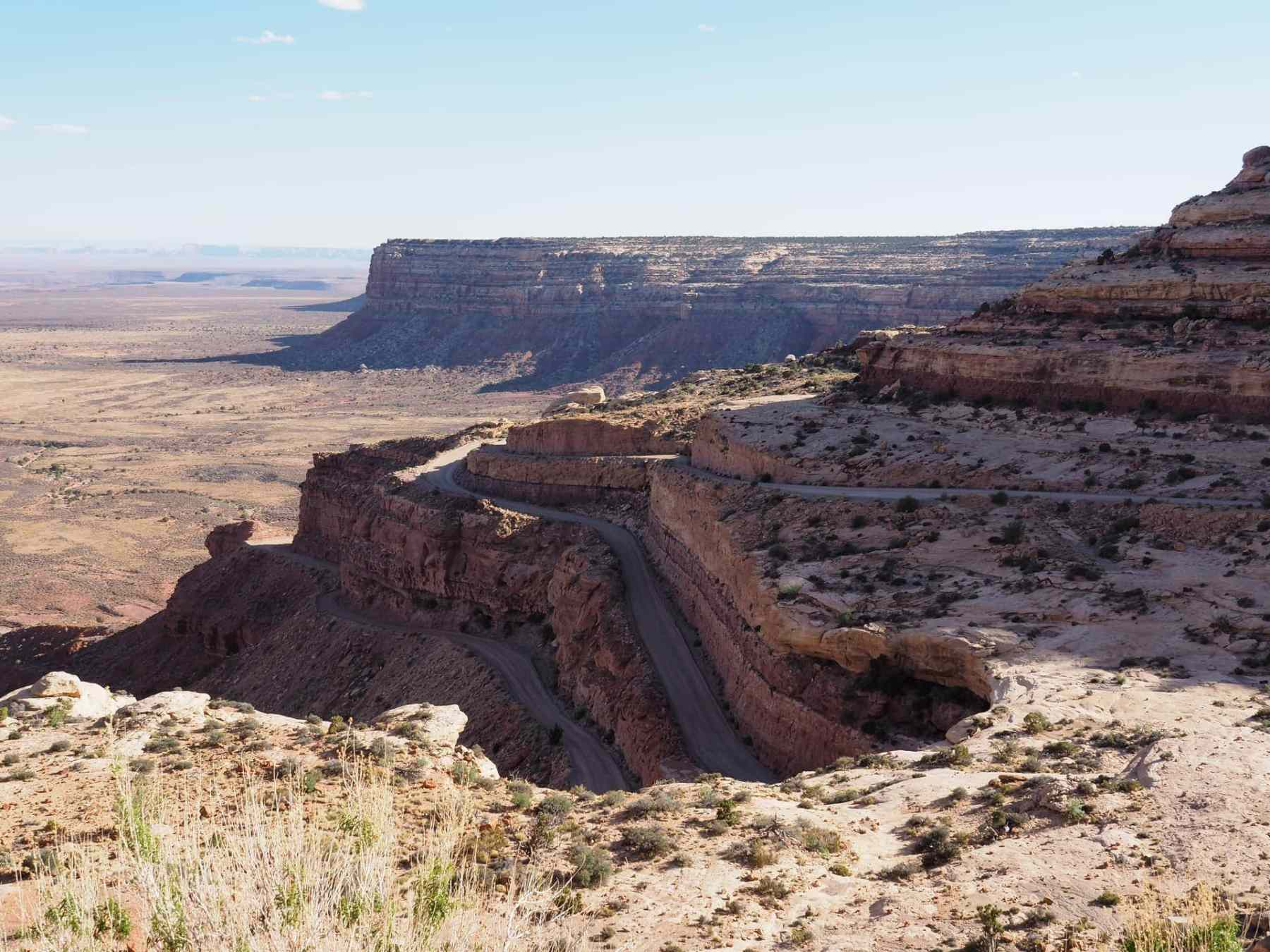 The Moki Dugway - a series of switchbacks