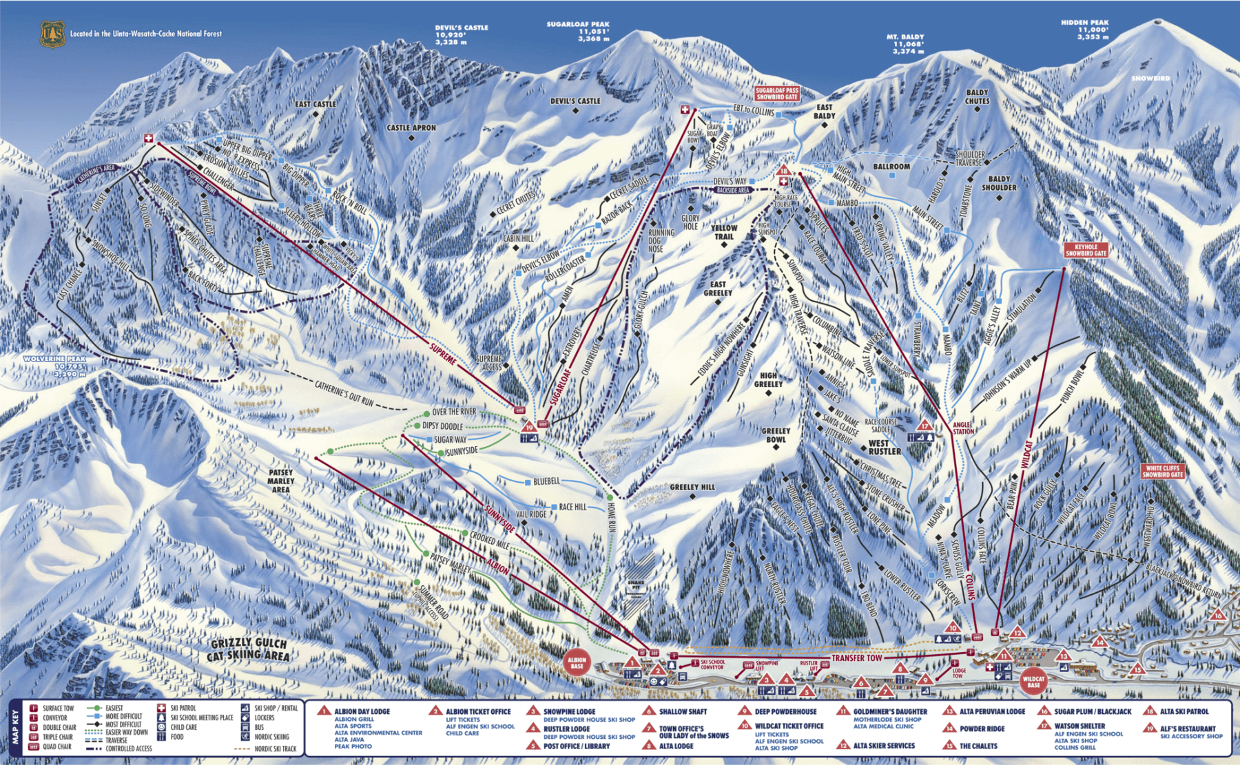 Alta Trail Map- from their website 2018