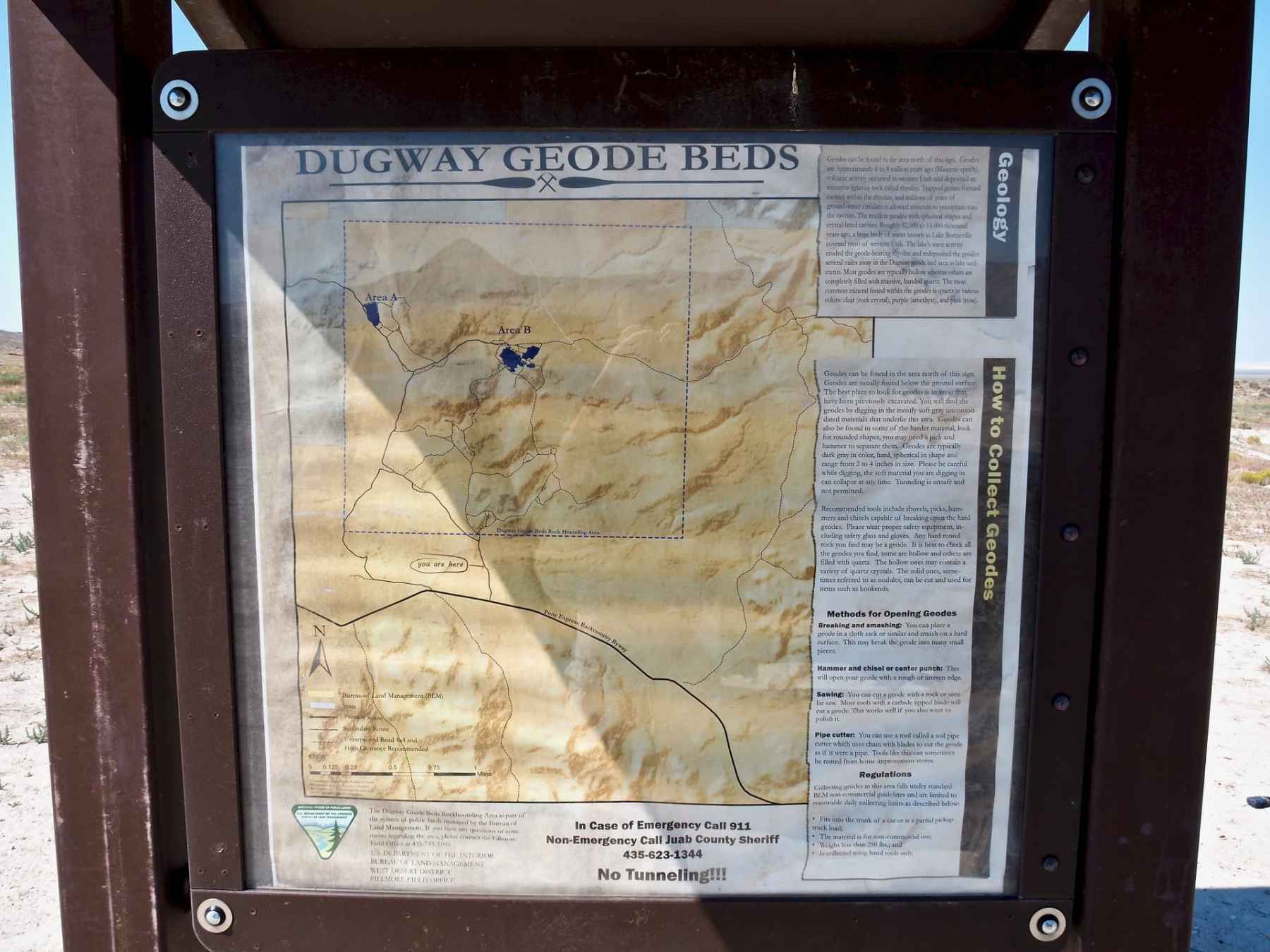Informational Sign for the Geode Beds