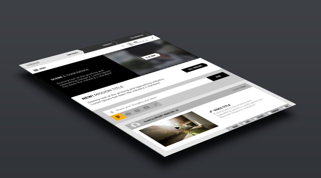 Website platform prototype design