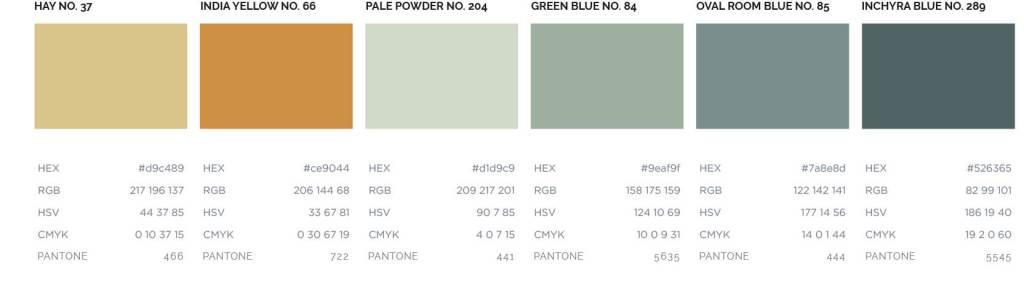 Interior designer colour palette