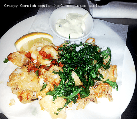 Crispy Cornish squid, herb and lemon aioli