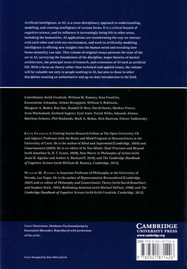 Cambridge Handbook of AI back cover