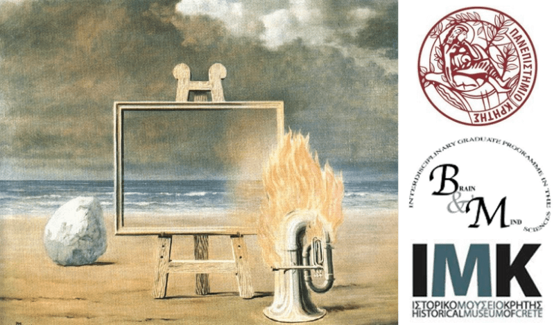 Magritte image and logos of sponsoring institutions