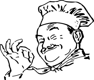 Cartoon of chef