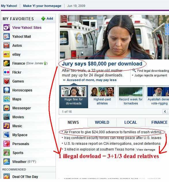 Illegal downloads dead relatives