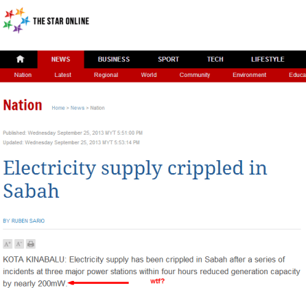 Electricity supply crippled in Sabah   Nation   The Star Online