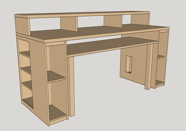 DIY Music Production Desk