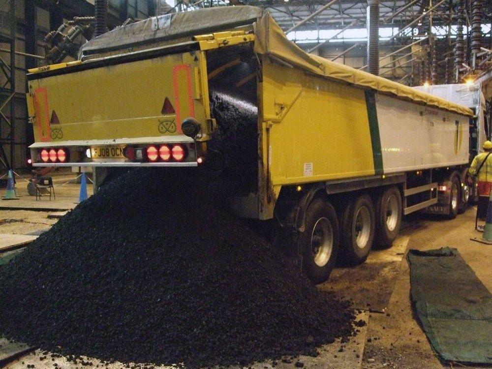 Unloading Asphalt
