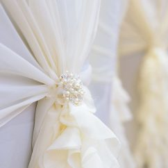 Wedding Chair Cover Hire Chesterfield Poang Review Covers Keith Woods Weddings Events Brooch Detail