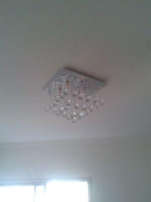 Luminária instalada