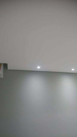 Spots no teto de gesso
