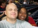 Brian and Kela at Braves Game