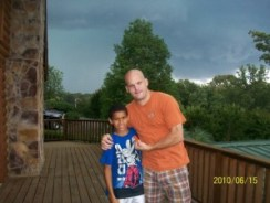 Brian and Austin on Porch