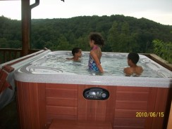 Kids in Hot tub