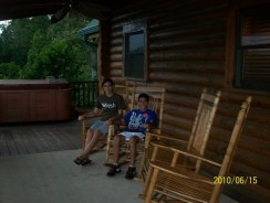 Porch with Aubrey and Austin