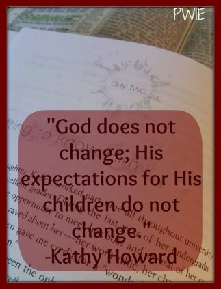 God expects the same from His children