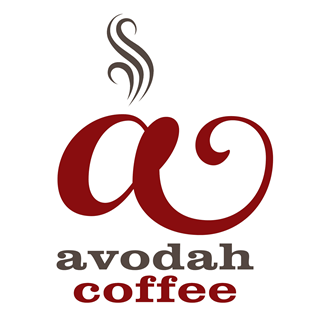 Avodah coffee affiliate Logo A w-text (1)red