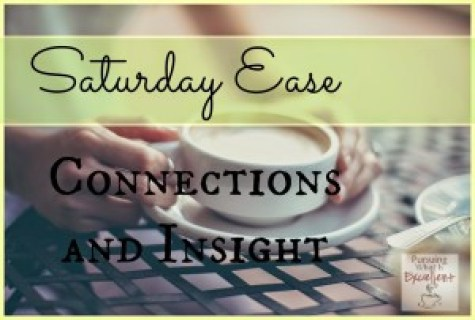 Saturday Ease Connections and Insight