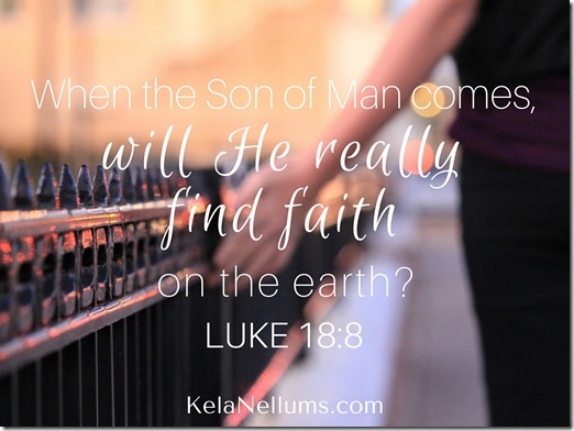 When the Son of Man comes,