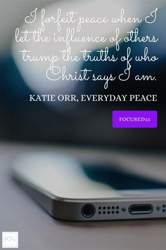 #EverydayPeace Don't forfeit peace