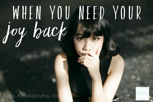 Pursuing What Is Excellent -- When You Need Your Joy Back