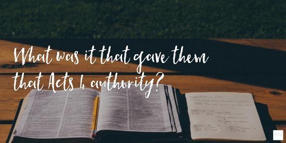 Acts 4 Authority