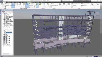 3D structural model with stairs in Navisworks 2019